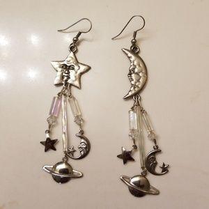 Moon & Star Cosmic Earrings